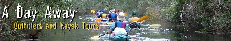 A Day Away Kayak Tours - Click to return to our homepage.